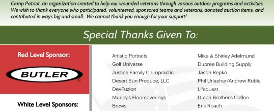 A HUGE Thank You to all Our Sponsors!