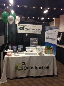 Our G2 Construction booth at the GROW Expo, TRAC in Pasco.  10-15-2014